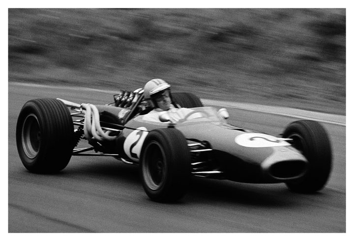 Denny Hulme racing a Brabham BT20 in 1967