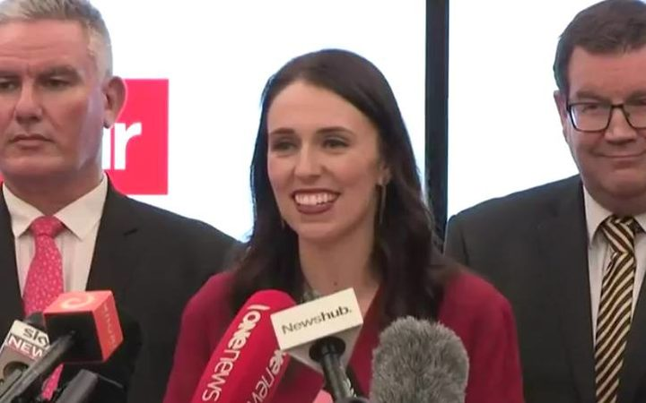 Jacinda Ardern speaks after New Zealand First leader Winston Peters said the party had chosen her to be the next Prime Minister. Photo / RNZ