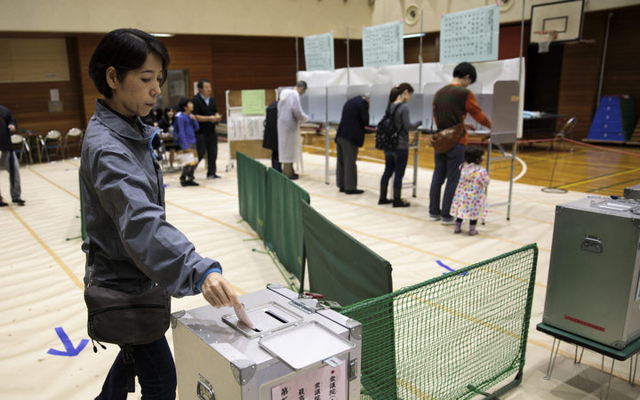 Abe on track for 'super-majority'