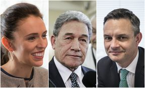 Jacinda Ardern, Winston Peters, James Shaw