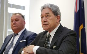 New Zealand First leader Winston Peters speaking to media after the announcement of the allocation of ministerial portfolios.