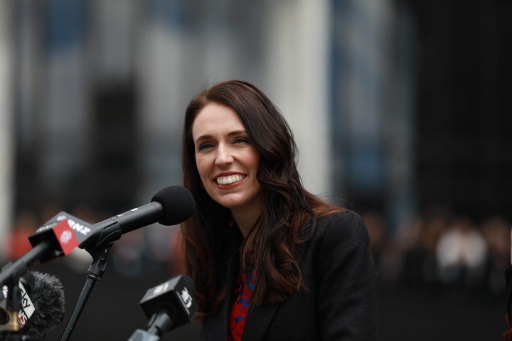 Jacinda Ardern breaks with tradition and addresses the public in her first move as Prime Minister.