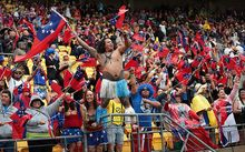 Samoan fans went all out for their team.