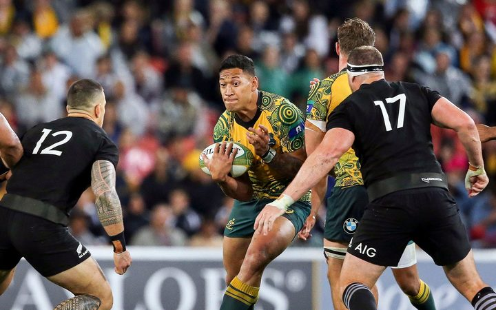Israel Folau in action against the All Blacks