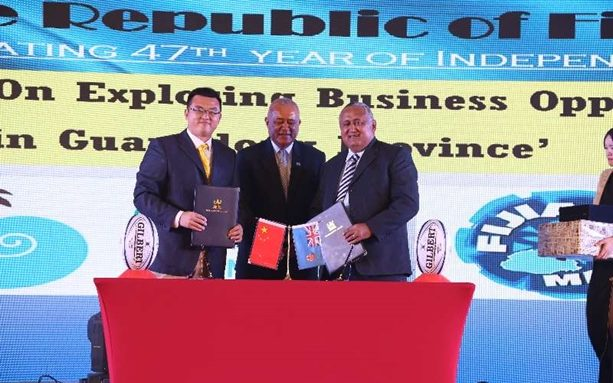 Fiji Rugby Union Commander Francis Kean signed a Memorandum of Understanding with the Chinese Rugby Football Association.