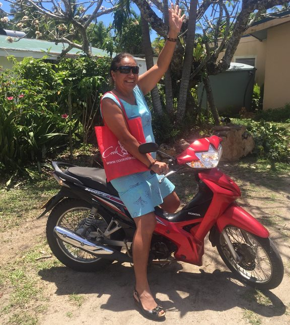 Cook Islands MP Sel Napa on her favourite mode of transportation, a 125cc scooter. Increasing tourism to Rarotonga is not sustainable says the MP.