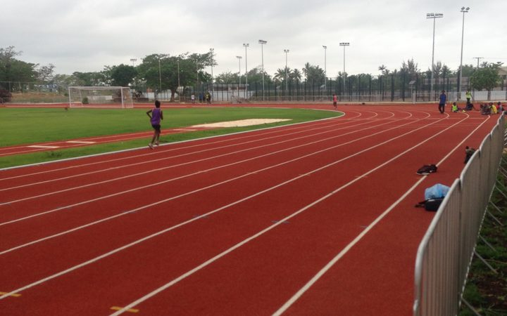 The running track at the Korman Complex.