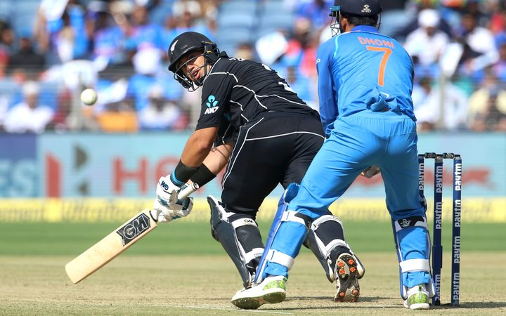 Ross Taylor sweeps against India in the recent one day series.