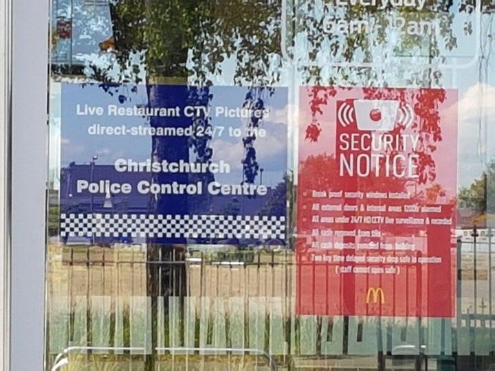 McDonald's live streaming CCTV to police | RNZ