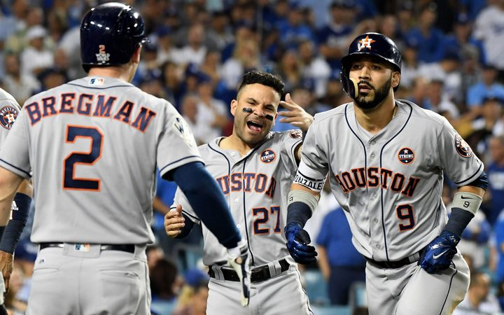 check out a68d0 eba95 Astros one win away from World Series crown | RNZ News