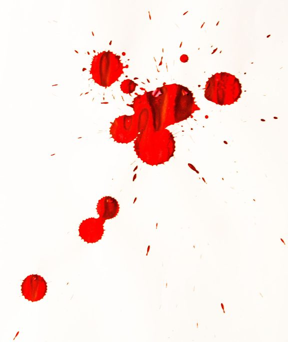 Blood spatter is a common piece of evidence found at crime scenes