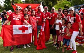 Tongan supporters at the fan day at Ōtāhuhu Rugby League Club