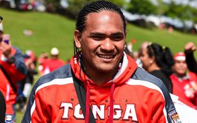 Tonga's Solomone Kata during the Tonga Fan Day in South Auckland.