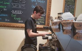 Wellington café assistant Connor Dempsey.