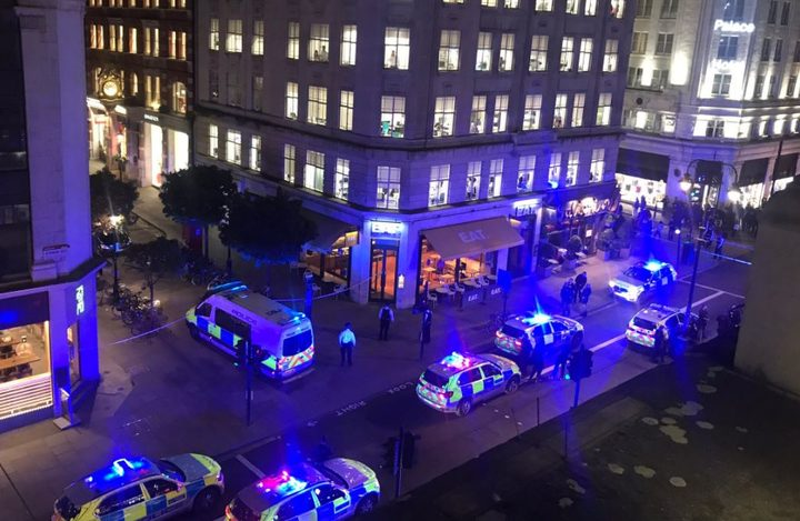 The incident, in Southampton Street, Covent Garden, is not believed to be terror-related, police have said.