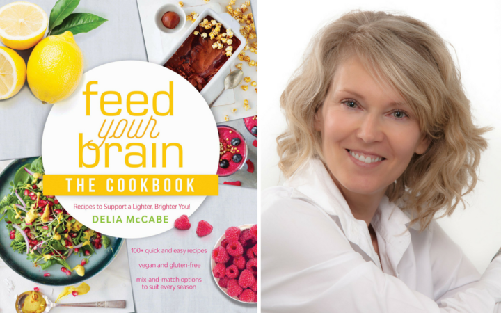 """Feed Your Brain: The Cookbook"" by Delia McCabe."