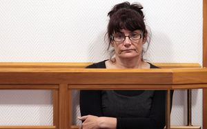Lucille Scollay in the dock at the high court in Christchurch.