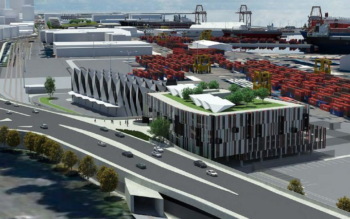 An artist's impression of the expanded port.