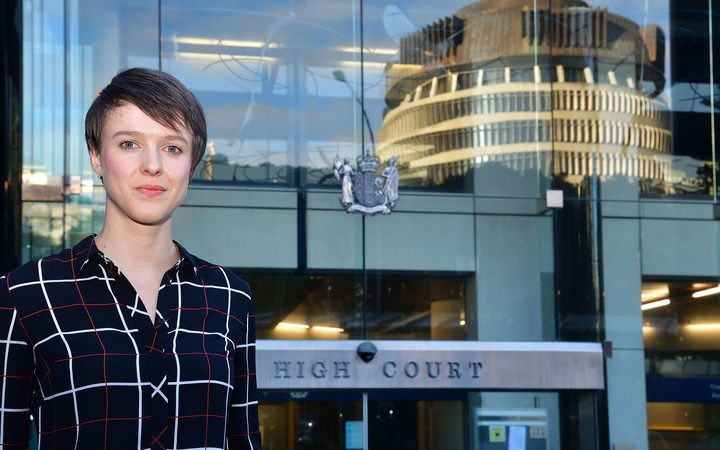 Sarah Thomson's during the climate change case at the High Court in Wellington in June.