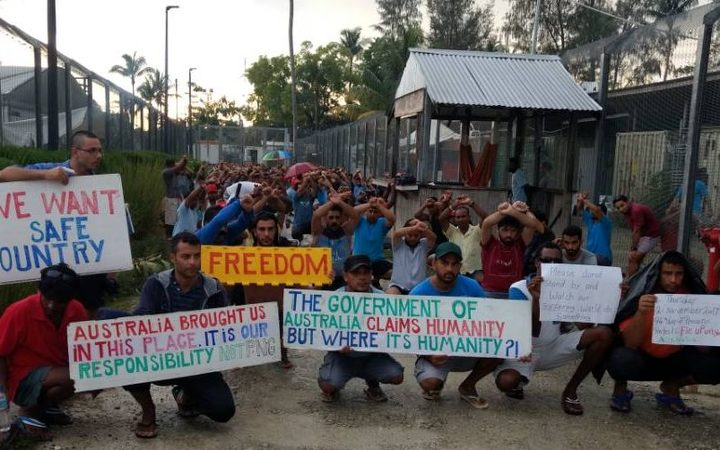 The 94th day of protest in the Manus Island detention centre.