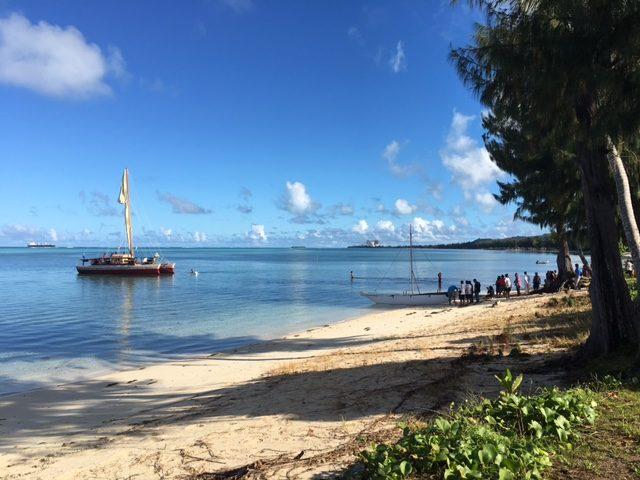 Traditional Polynesian canoe returns from Guam