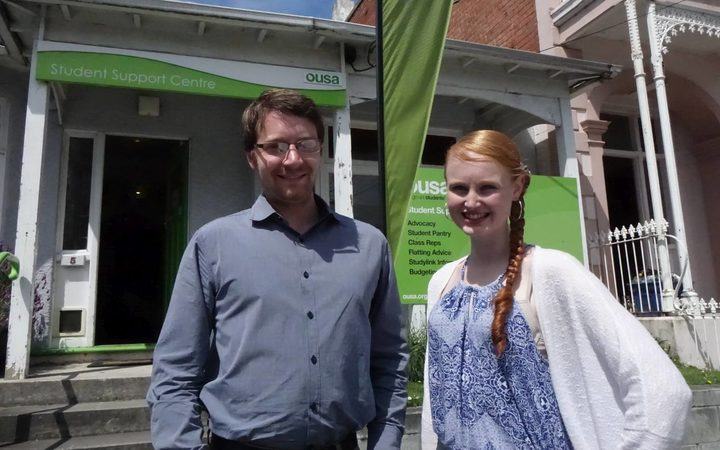 Otago University Students' Association Support Centre manager Sage Burke (left), and welfare officer Danielle Pope.