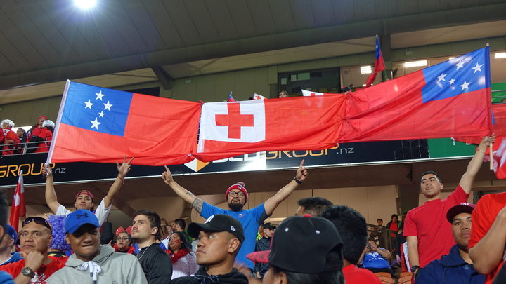 Tonga and Samoa rugby league fans.
