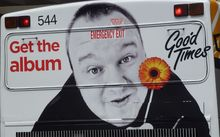 A bus billboard for Kim Dotcom in Auckland.