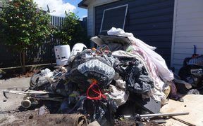 The pile of rubbish is only a third of what it was after a cleanup.