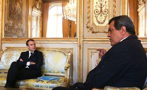 President Macron of France hosts French Polynesia's Edouard Fritch