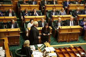 Prime Minister Jacinda Ardern was among 120 MPs being sworn in at Parliament.
