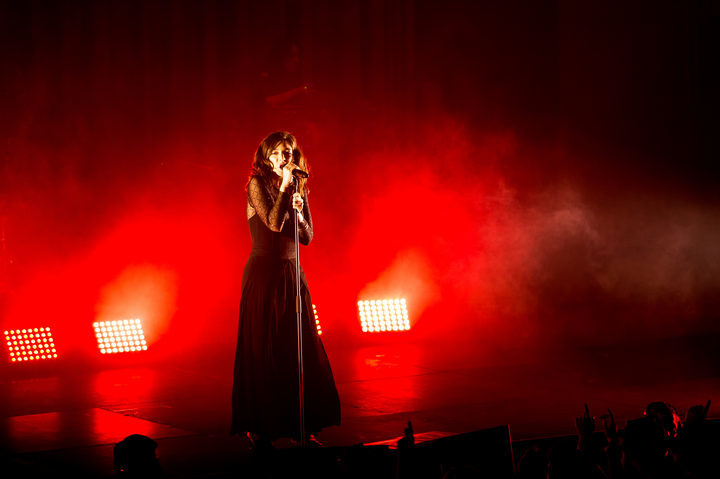 Lorde at the first show of her Australia/New Zealand tour in Dunedin.