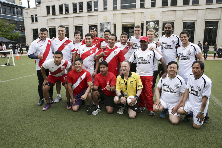 NZRefugees Assoc Vs Peru Community Friendly game Civic Square