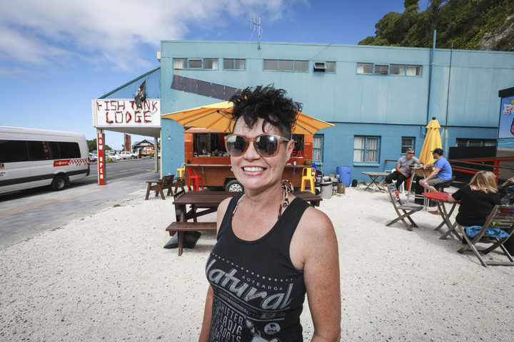 Sharon Rayner, owner/operator of The Cafe Cart in Kaikoura. Sharon and her team were a hub for residents, tourists and recovery crew during the aftermath of the quake.