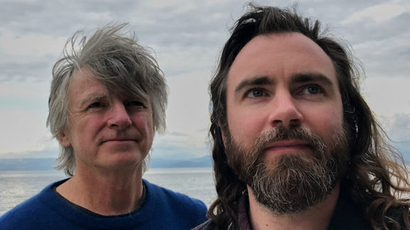 Neil and Liam Finn and their unruly hair