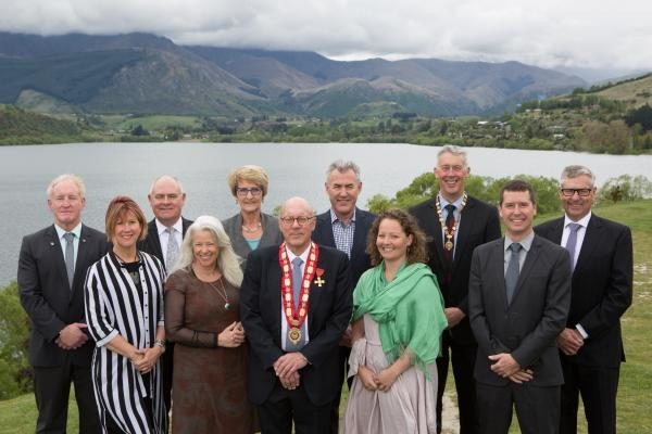 Mayor Jim Boult with councillors from Queenstown Lakes District Council