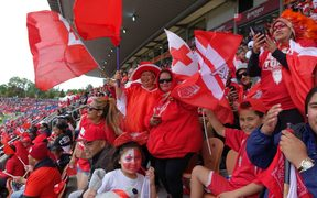 Tongan fans before the game