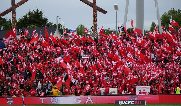 Tongan rugby league fans have been loud and proud.
