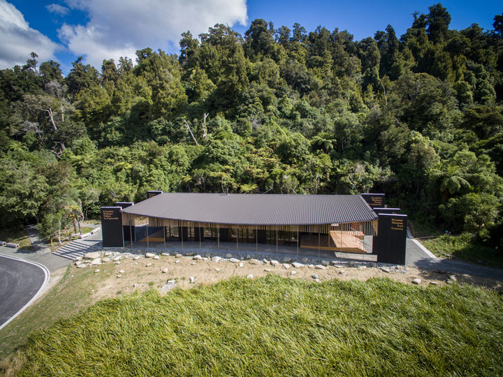 The Ngai Tuhoe meeting house Te Wharehou o Waikaremoana.