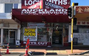 New Lynn's Auckland Lock Services has only just reopened, hoping a reduction in foot traffic since the flooding won't affect them.