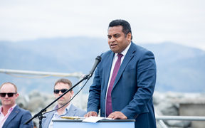 Minister for Civil Defence and Commerce and Consumer Affairs Kris Faafoi, speaking at the Kaikoura Harbour re-opening, 14 November 2017.