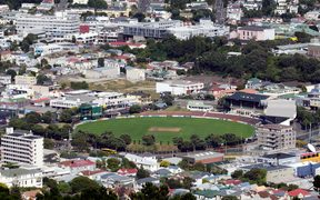 The Basin Reserve in central Wellington.