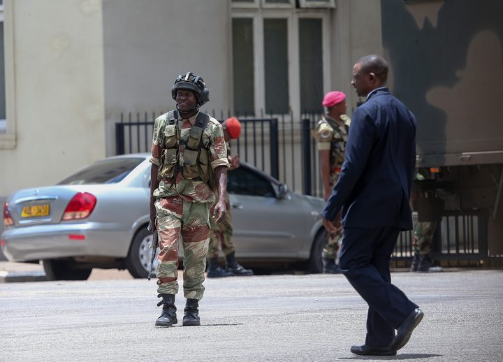 Soldiers take over Zimbabwe's national broadcaster; gunfire heard