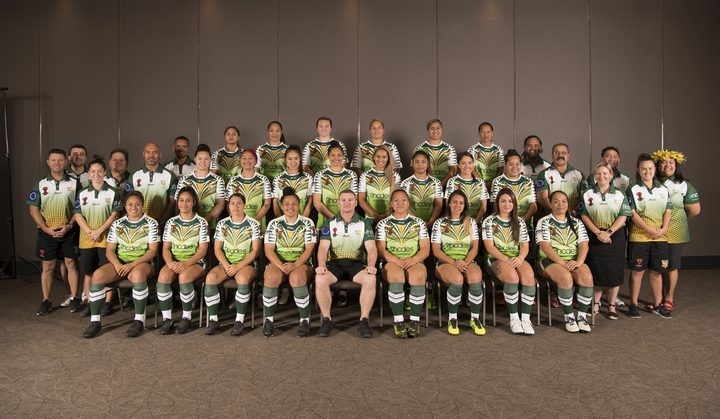 The Cook Islands Moana Women's World Cup team.