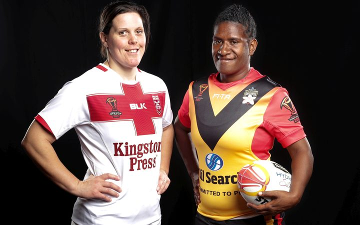 PNG and England clash in the opening round of the Women's Rugby League World Cup.