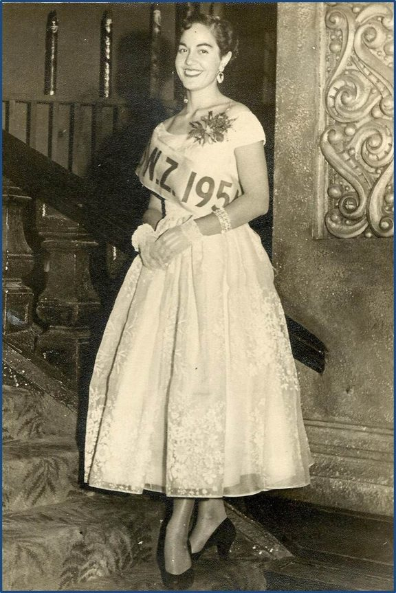 Moana Whaanga, the first Māori to be crowned Miss NZ in 1954.