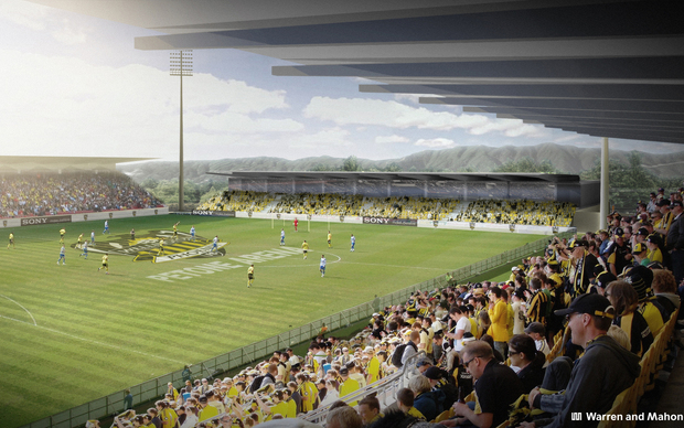 An artist's impression of the proposed Petone stadium.