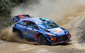 World Rally Championship of Australia,  Haydon Paddon and co-driven by Sebastian Marshall