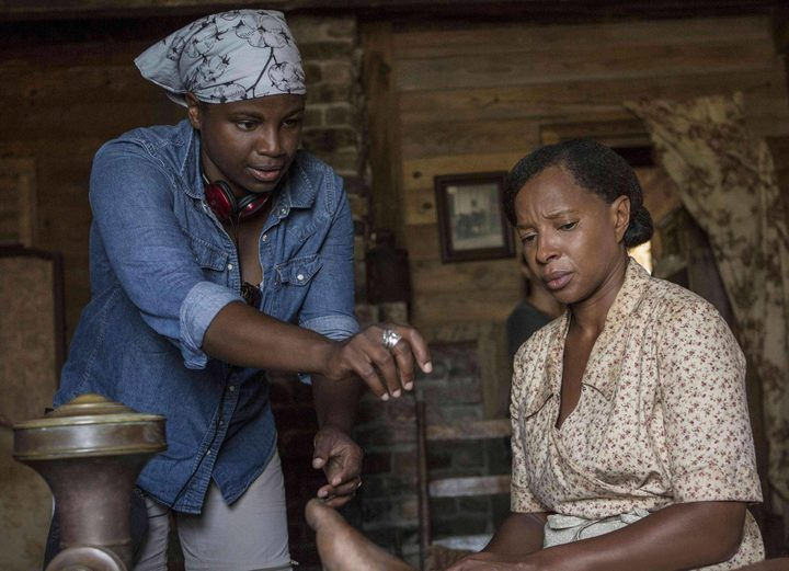 Dee Rees directing Mary J. Blige in Mudbound.