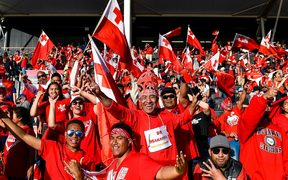 Tonga fans have turned out in big numbers to support their team at the world cup.
